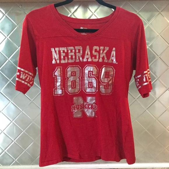 Women s Nebraska Huskers Red Shirt 4d76bc9c6